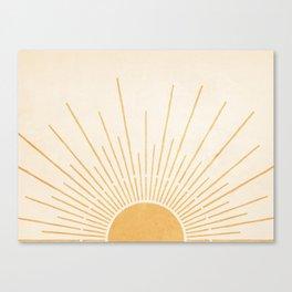 Sun #5 Yellow Canvas Print