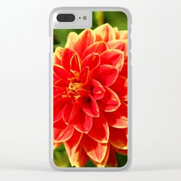 Lovely Dahlia Clear iPhone Case