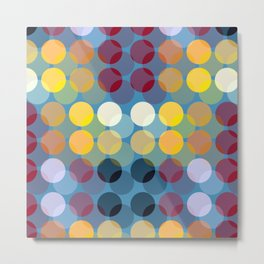 Colorful Polka Dot Metal Print