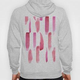 Modern geometrical pink watercolor brushstrokes Hoody