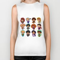 percy jackson Biker Tanks featuring Chibis of Olympus by chubunu