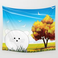 cartoon Wall Tapestries featuring Cartoon mouse by Cs025