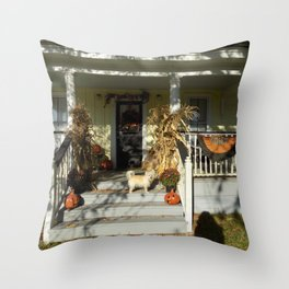 A Country Halloween Throw Pillow