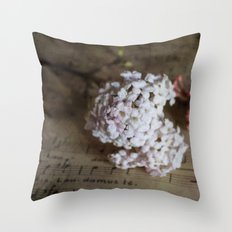Flowers and music Throw Pillow