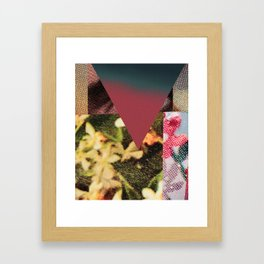 Halftone Collage Framed Art Print