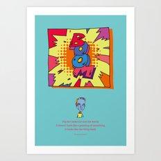 quoate Art Print
