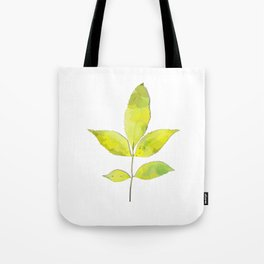 leaves painted with watercolor . designer paintings for eco-style . eco style interior . Sustainable Tote Bag