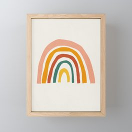 Rainbow, Mid century modern kids wall art, Nursery room Framed Mini Art Print