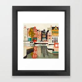 shapes houses of Amsterdam Framed Art Print