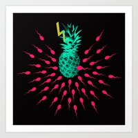 pineapple Art Prints featuring Pineapple by mark ashkenazi