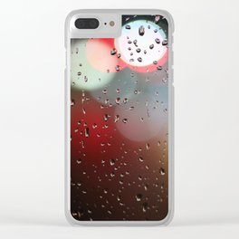 rain lights Clear iPhone Case