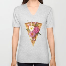 FLORAL PIZZA Unisex V-Neck