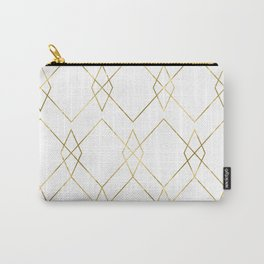 Gold Geometric Carry-All Pouch