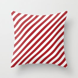 Candy Cane - Christmas Illustration Throw Pillow
