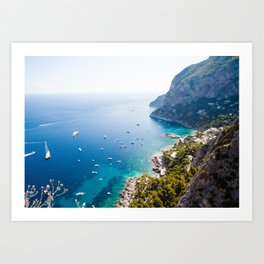 Capri, bay of Naples, Italy Art Print