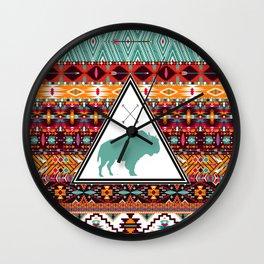 Navajo Buffalo Wall Clock