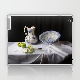 Delft blue and green apples still life Laptop & iPad Skin