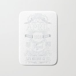 Legends Were Born In April 1958, 60th Birthday Gift Shirt Bath Mat