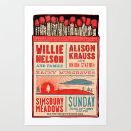 Willie Nelson And Family   Art Print