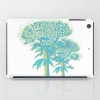 botanical iPad Cases featuring turquoise botanical by clemm