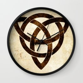 Celtic knot on old paper Wall Clock