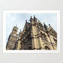 gothic revival - bradford city hall Art Print