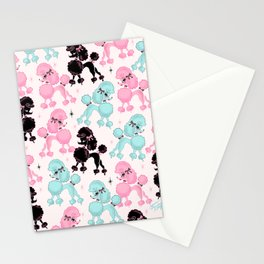Poodlerama Retro Poodles Stationery Cards