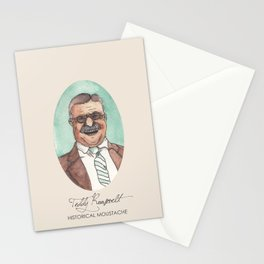 Historical Moustache Teddy Roosevelt Stationery Cards