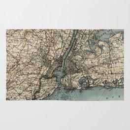 Map of Upstate New York 1891 Rug