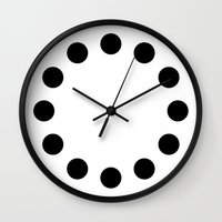 eternal sunshine Wall Clocks featuring ETERNAL by THE USUAL DESIGNERS