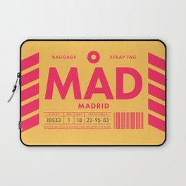 Luggage Tag D - MAD Madrid Barajas Spain Laptop Sleeve
