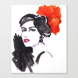 Fashion illustration portrait !! Canvas Print