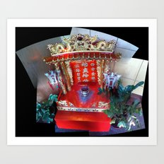Buddhist Shrine at J. Wong's Asian Bistro in Downtown Salt Lake City, September 2012 Art Print