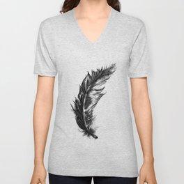 Feather- B&W // Illustration Unisex V-Neck