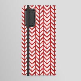 Shibori Chevrons - Peppermint Android Wallet Case