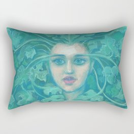 Green Lady Rectangular Pillow