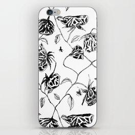 Dead Roses Flies Garden Drawing iPhone Skin