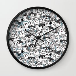 Aqua Dogs Wall Clock