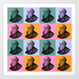 Charles Darwin vintage Art Print