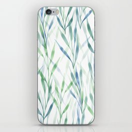 Watercolor Reeds iPhone Skin