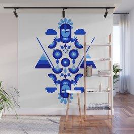 Libra in Blue Wall Mural
