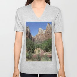 Crossroads At The Court Of The Patriarchs Unisex V-Neck