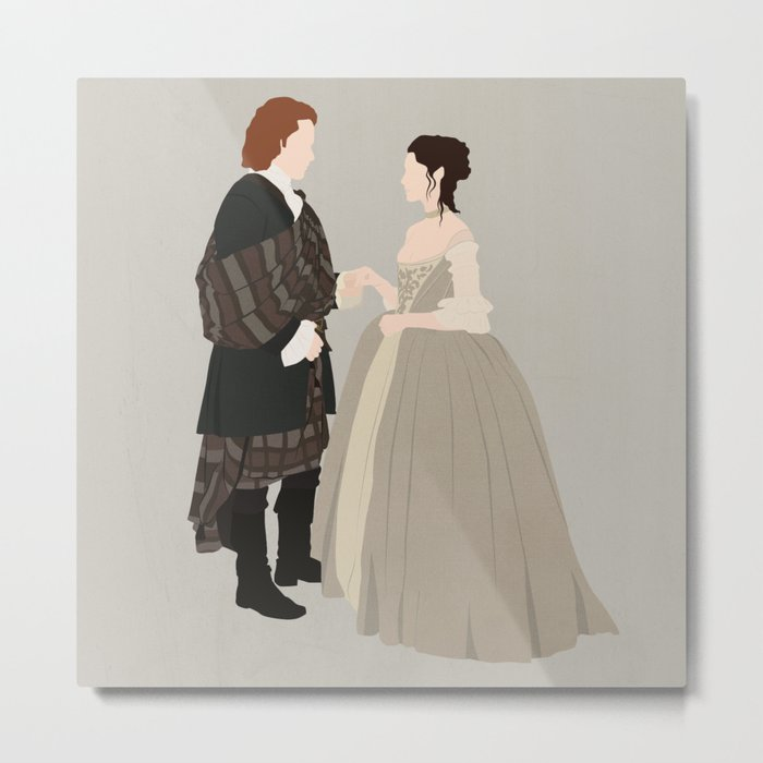 Outlander, Jamie and Claire Metal Print