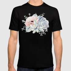 Pretty Succulents by Nature Magick Black X-LARGE Mens Fitted Tee