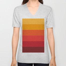 Color Pattern ( Red) Unisex V-Neck