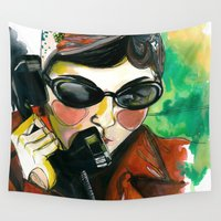amelie Wall Tapestries featuring Amelie by Gra Pereira