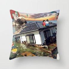 Beyond the Sea - Spirited Away / Ponyo Tsunami Series Throw Pillow