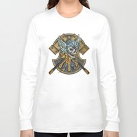 viking Long Sleeve T-shirts featuring Viking by Spooky Dooky