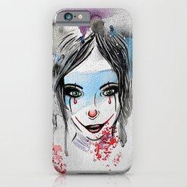 Watercolour Clown Girl Cartoon  iPhone Case