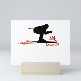 Ski speeding at Ski Sawmill Mini Art Print